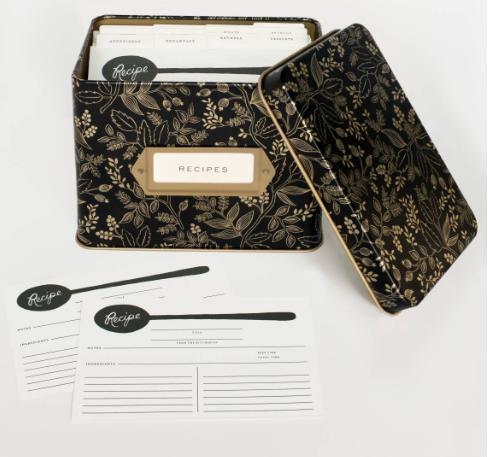Queen Anne Tin Recipe Box 2