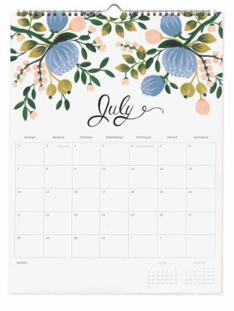 2019 Bouquet Kalender 9