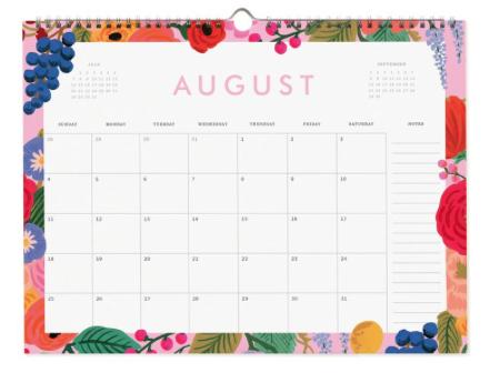 2019 Garden Party Kalender 9