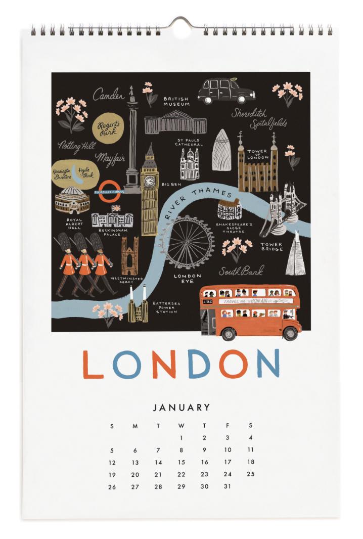 2020 City Maps Calendar Calendar 2