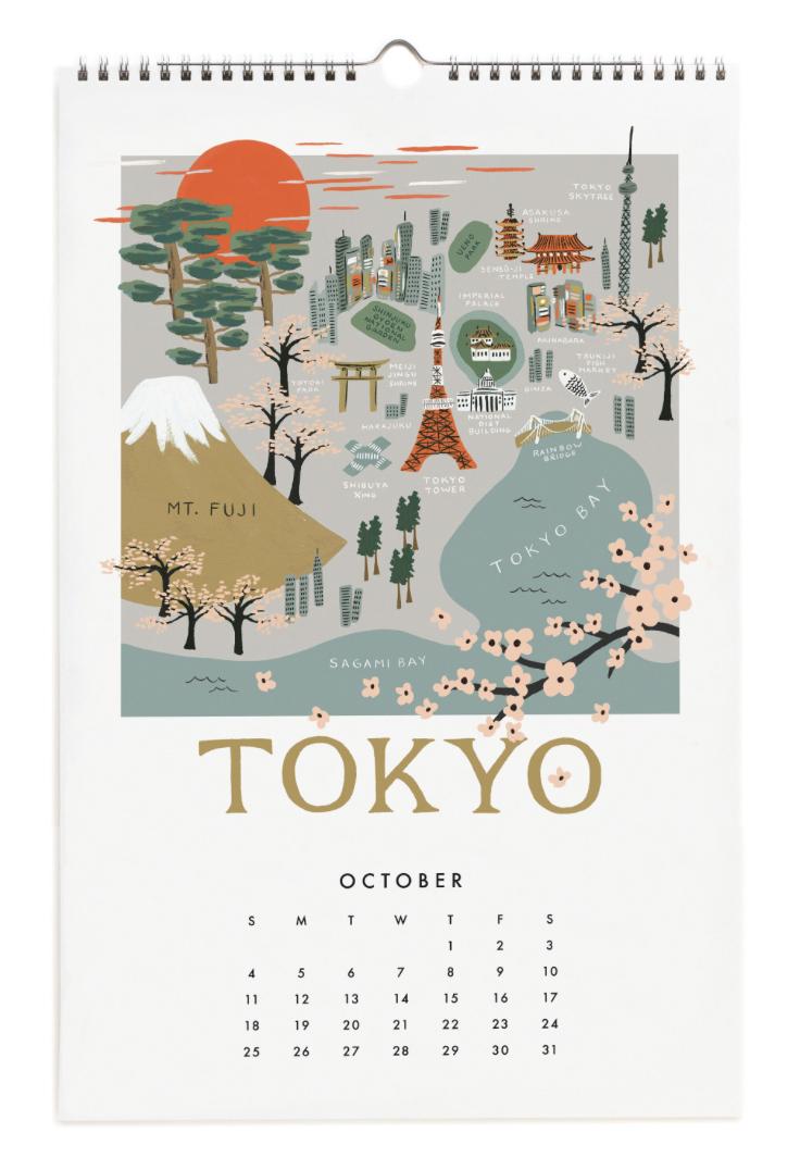 2020 City Maps Calendar Calendar 11