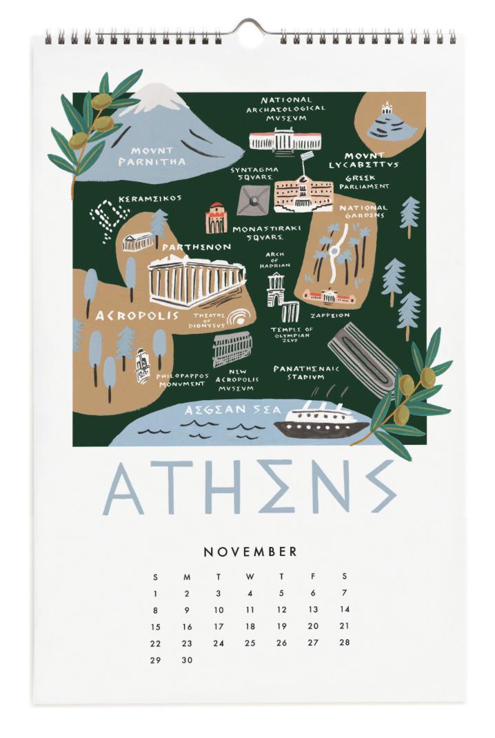 2020 City Maps Calendar Calendar 12