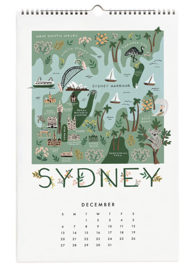 2020 City Maps Calendar Calendar 13