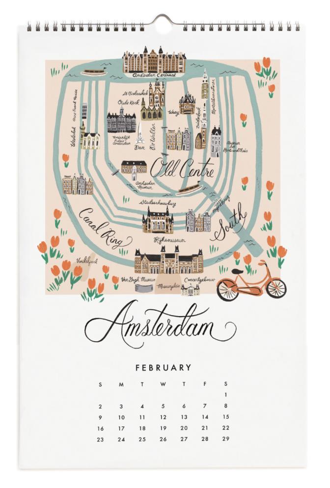 2020 City Maps Calendar Calendar 3