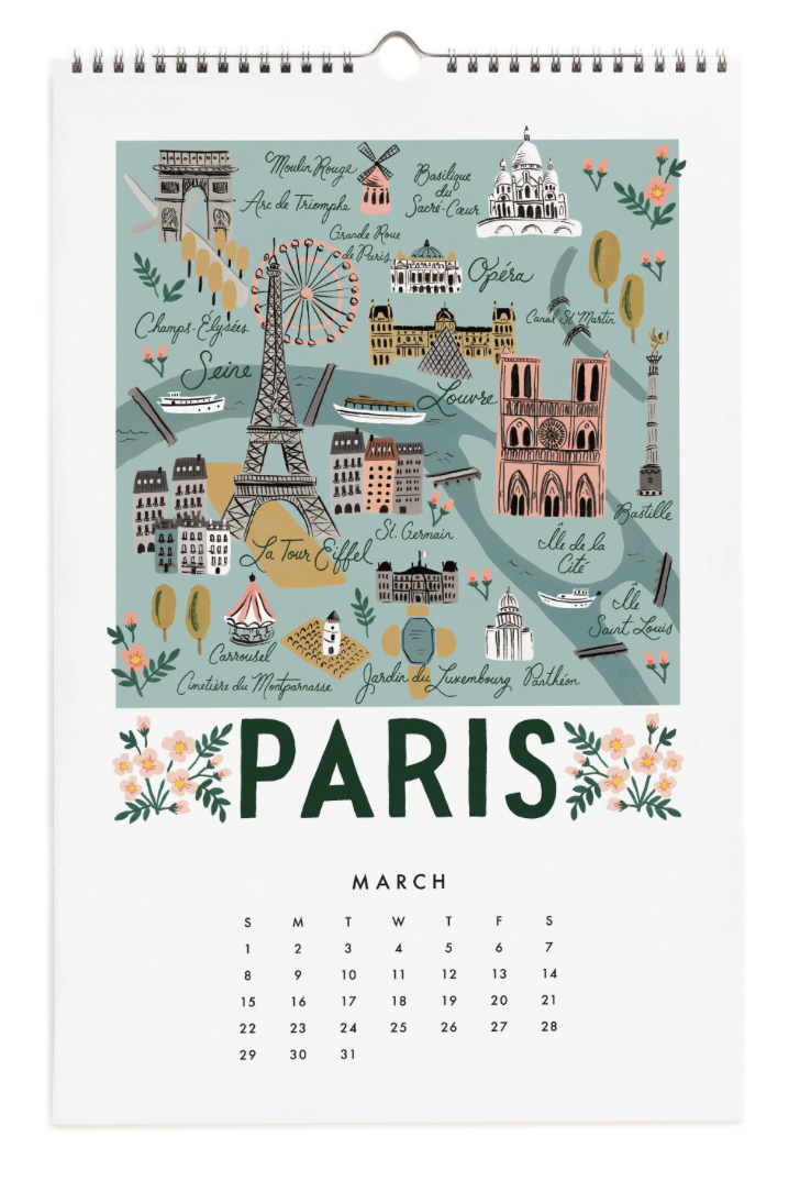 2020 City Maps Calendar Calendar 4