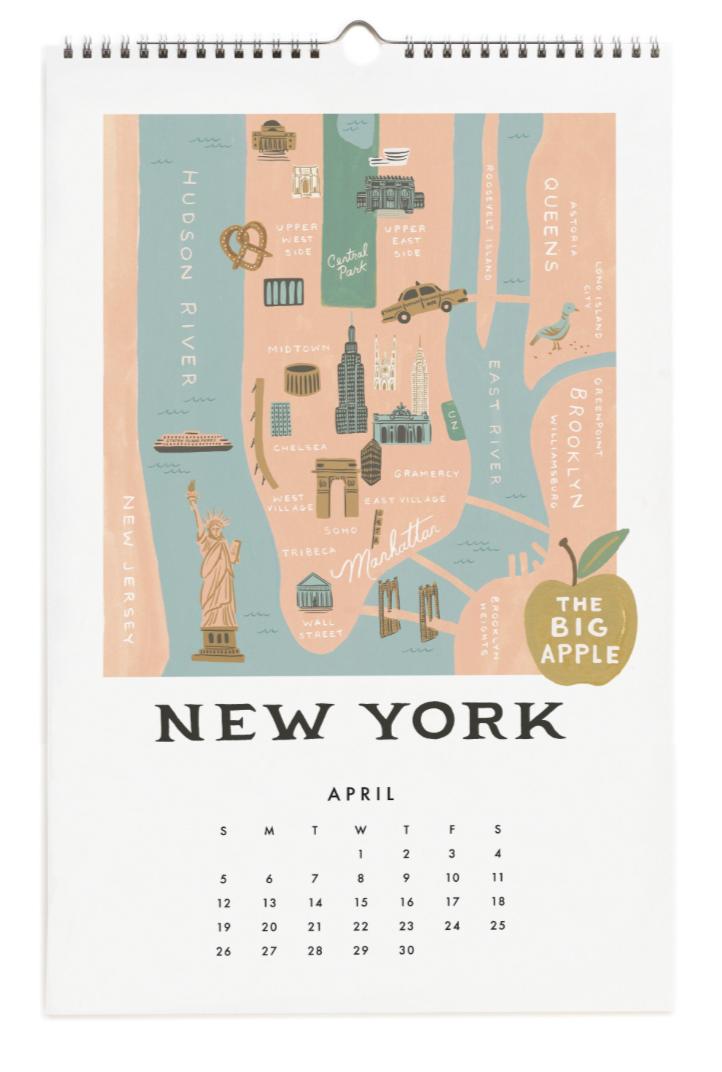 2020 City Maps Calendar Calendar 5