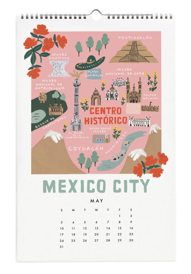 2020 City Maps Calendar Calendar 6