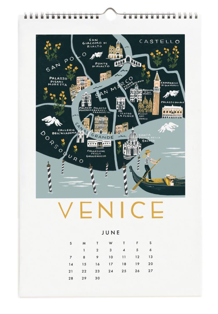 2020 City Maps Calendar Calendar 7