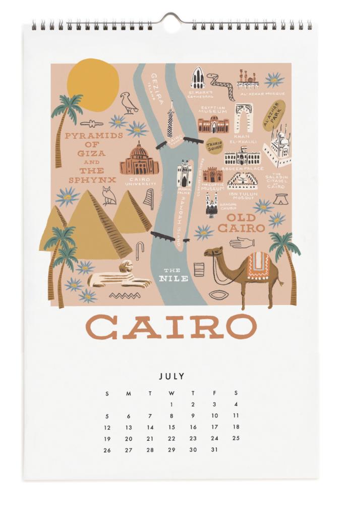 2020 City Maps Calendar Calendar 8