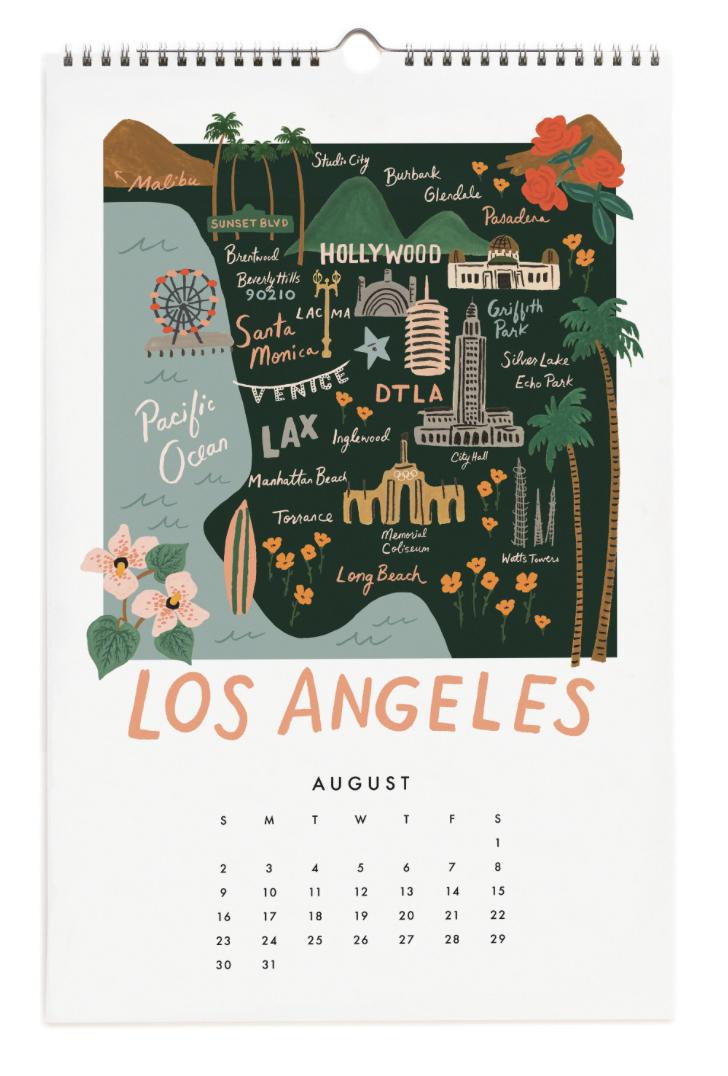 2020 City Maps Calendar Calendar 9