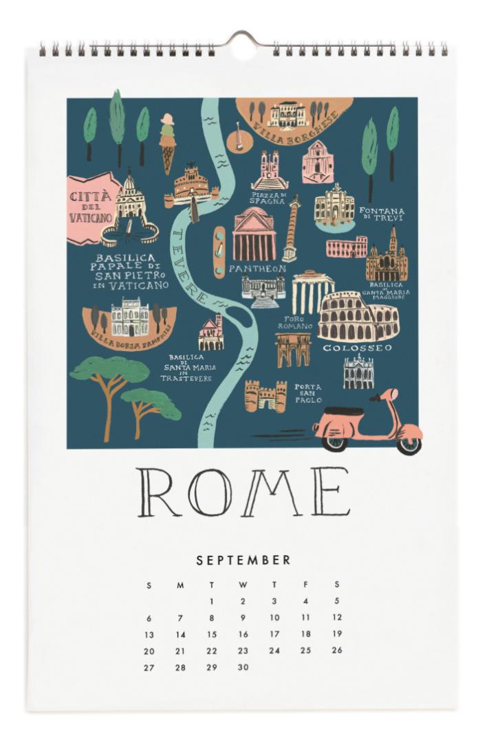 2020 City Maps Calendar Calendar 10