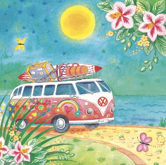 Hot Summer Bus Card
