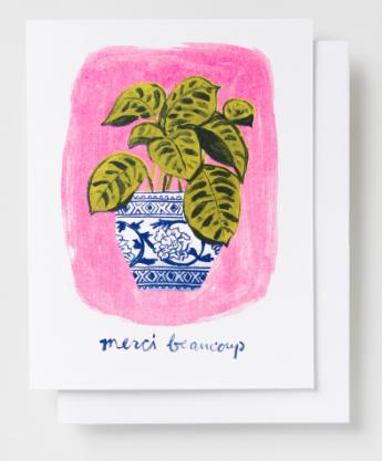 Merci Beaucoup Plant Card