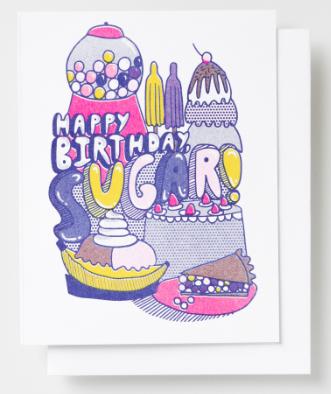 Happy Birthday Sugar Card