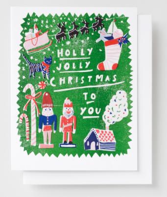 Hello Jolly Xmas Card