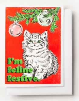 Feline Festive Card