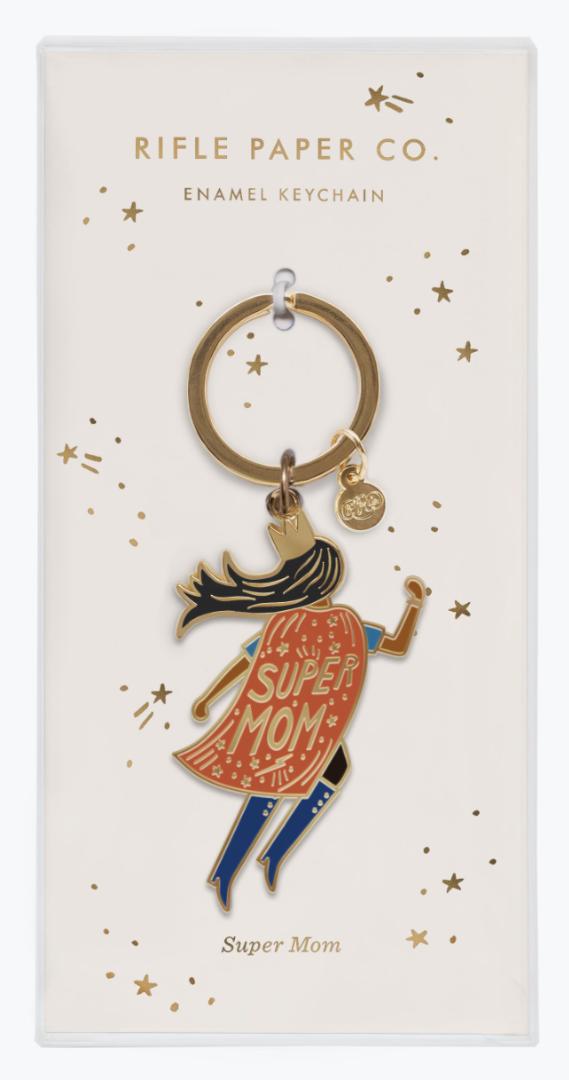 Soaring Supermom Keychain