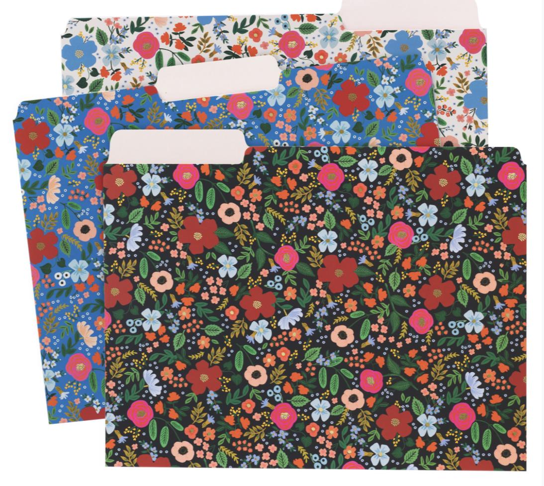 Wild Rose File Folders