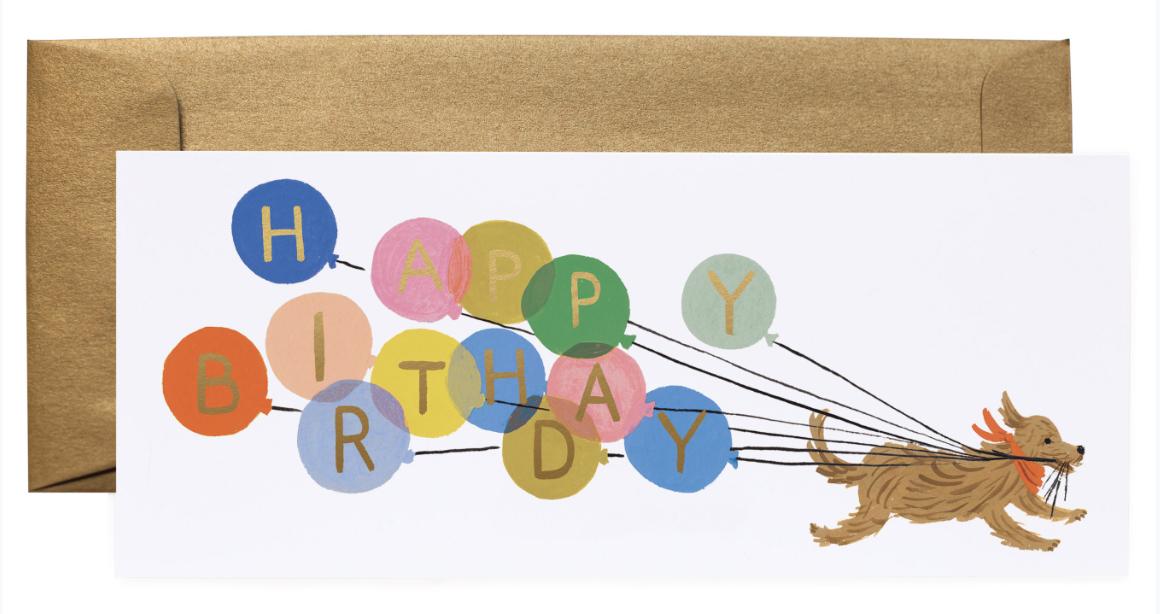 Balloon Birthday Long Card