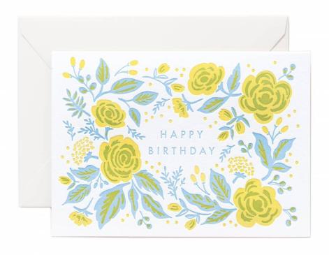 Jardin Birthday Letterpress Card