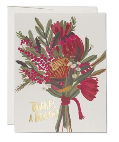 Queen Protea Thanks Card