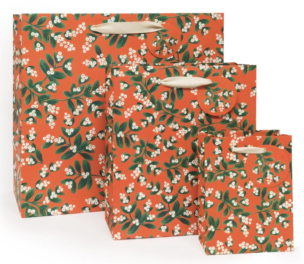 Misteltoe Holiday Gift Bag