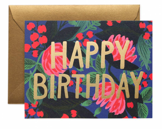 Floral Foil Birthday