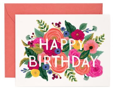 Juliet Rose Birthday Card