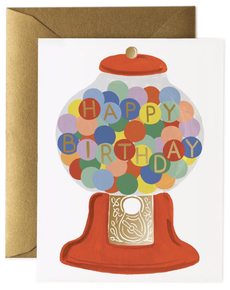 Gumball Birthday Card