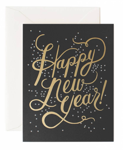 Shimmering New Year Card