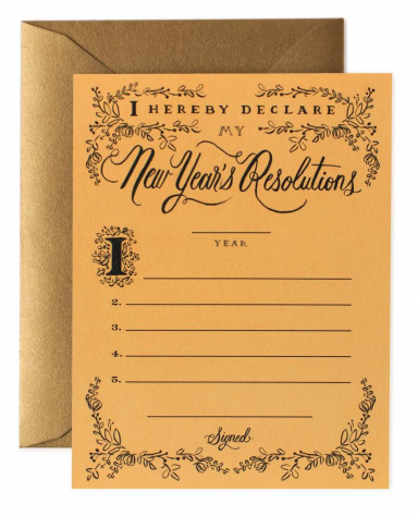 New Year s Resolution Card