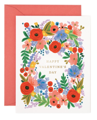 Valentins Bouquet Card