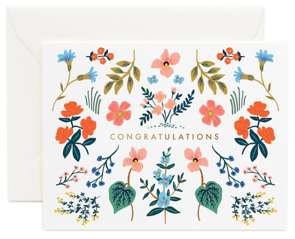 Wildflower Congrats Card