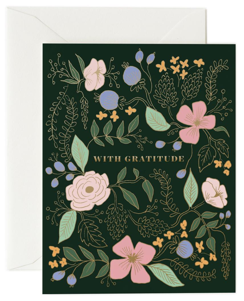 White Gratitude Thank You Card