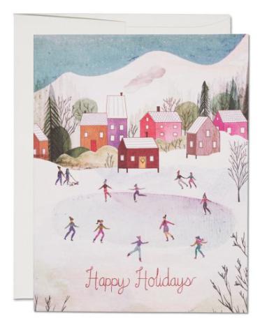 Village Skating Card