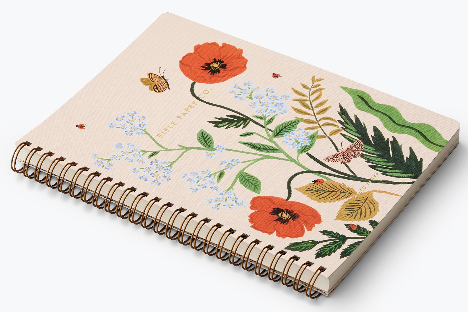 Poppy Botanical Spiral Notebook 2