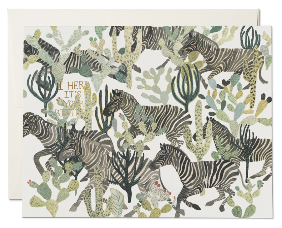 Zebra Herd Card