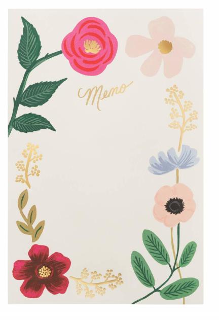Wildflowers Everyday Memo Notepad