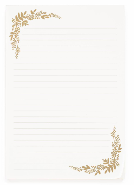 Mint Floral Birch Writing Pad 3