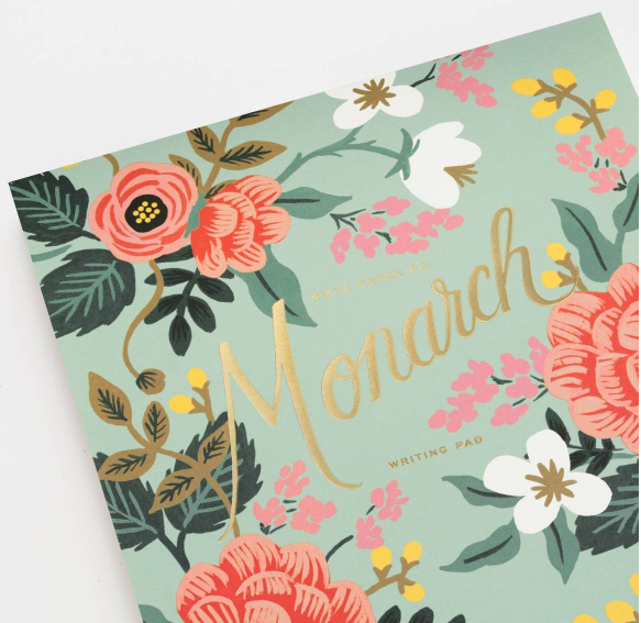 Mint Floral Birch Writing Pad 5