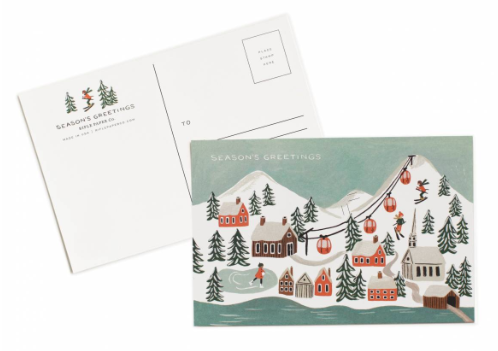 Holiday Snow Scene Postcards