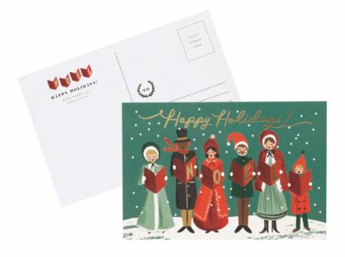 Carolers Christmas Postcards