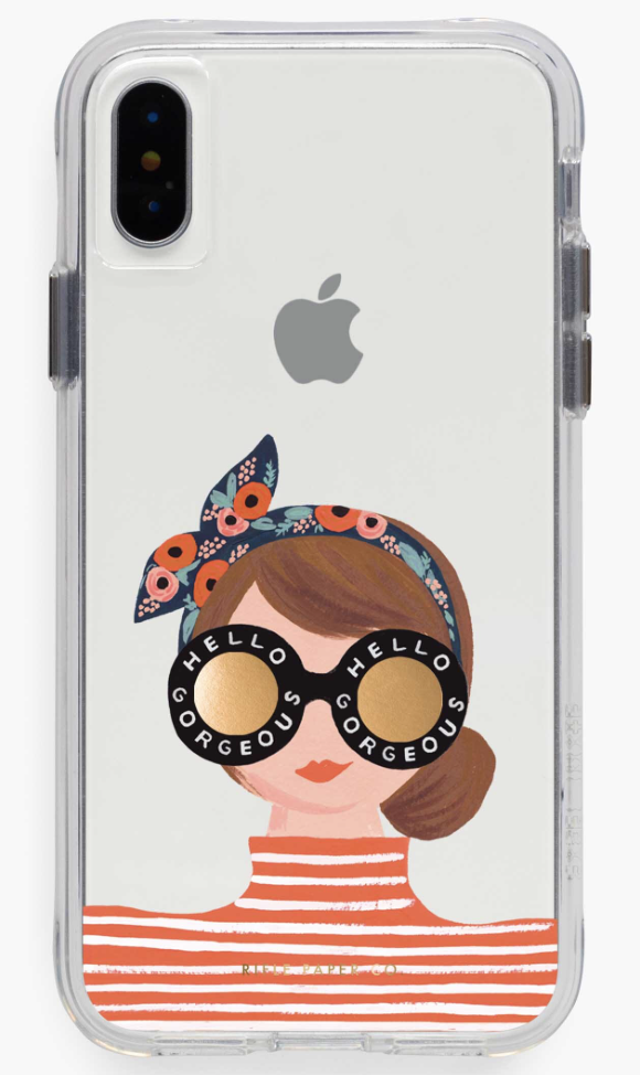 Clear Hello Gorgeous iPhone Cases