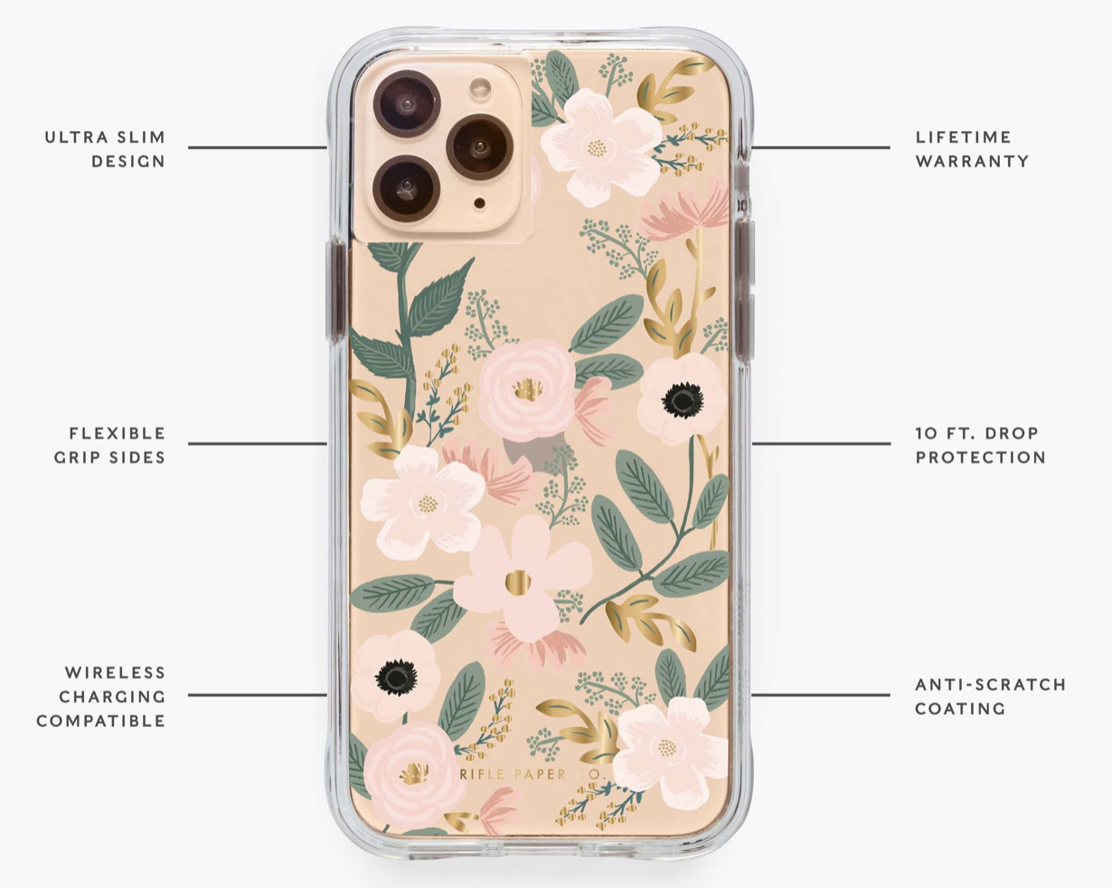 Clear Wildflowers iPhone Cases 3