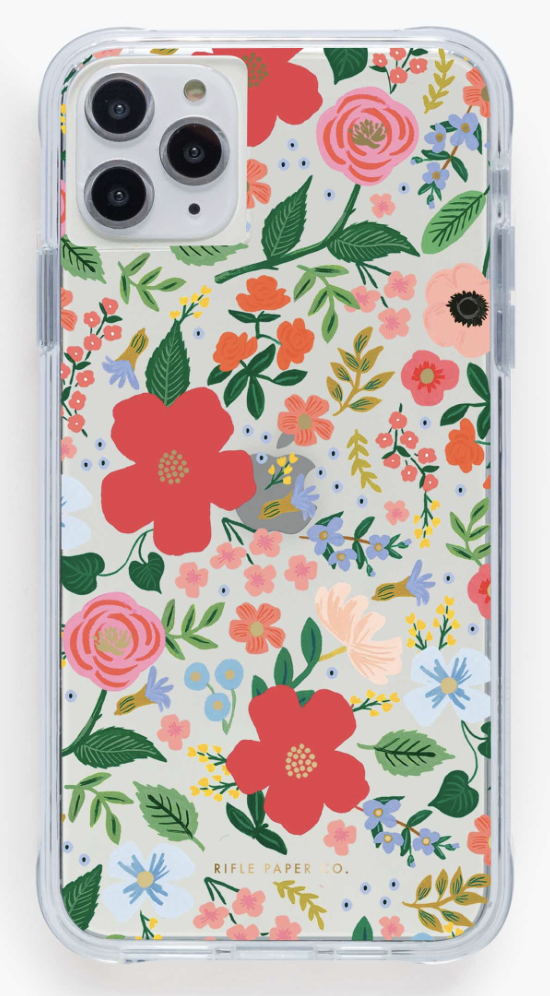 Clear Wild Rose iPhone Cases