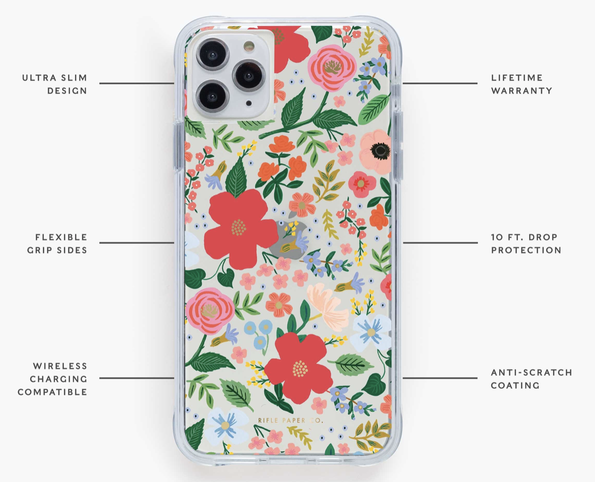 Clear Wild Rose iPhone Cases 6