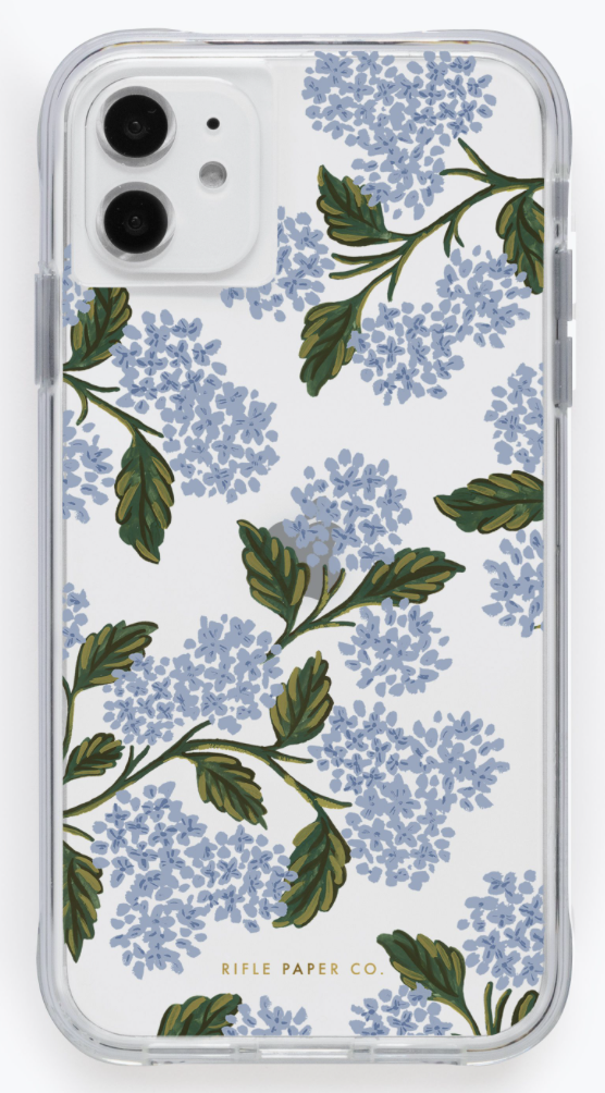 Clear Hydrangea iPhone Cases