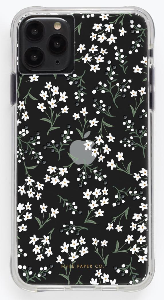 Clear Petites Fleurs iPhone Cases