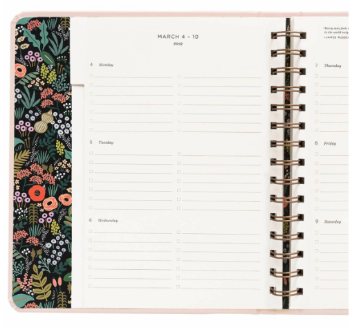 2019 Bouquet Covered Planner 10