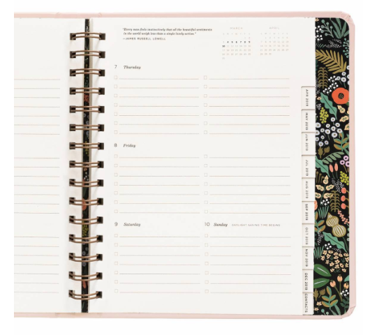 2019 Bouquet Covered Planner 11